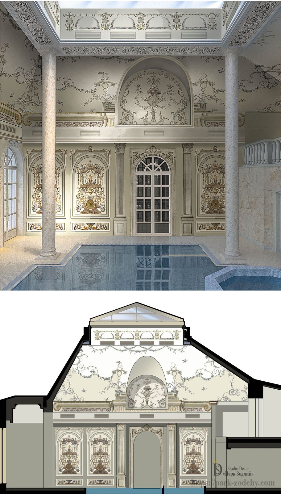 Дизайн интерьера дома в классическом стиле