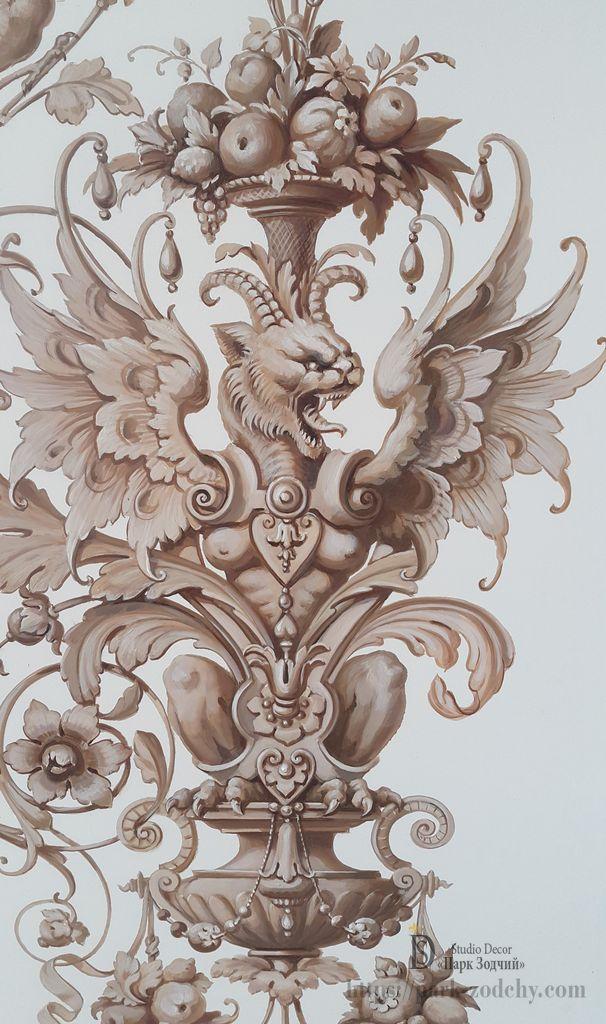Фрагмент иллюзорной живописи