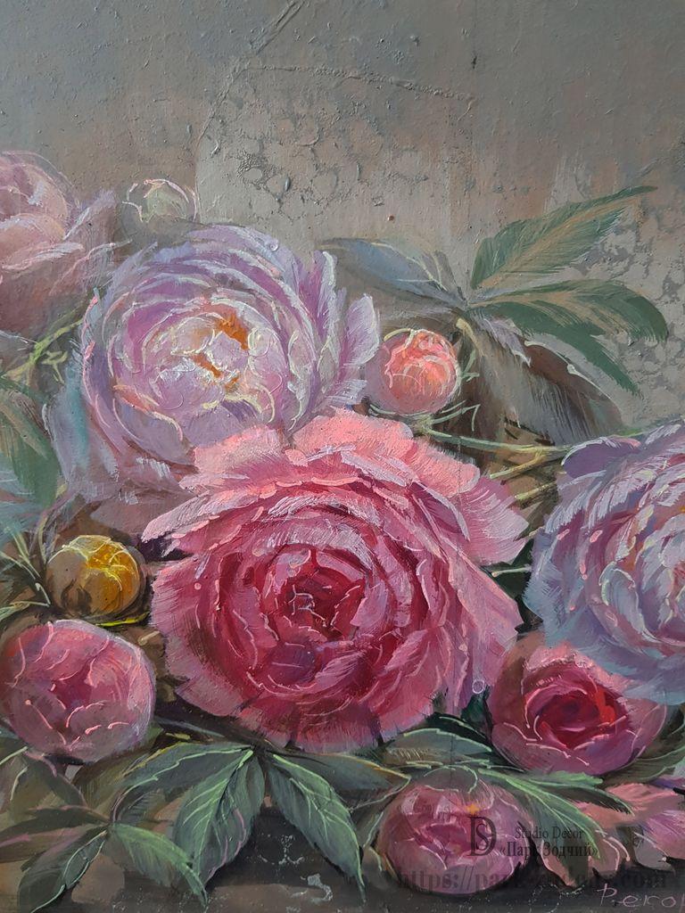 Фрагмент росписи цветов