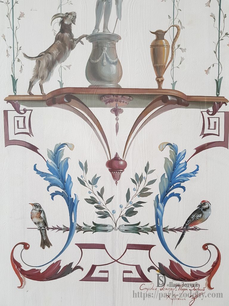 Polychrome painted French style