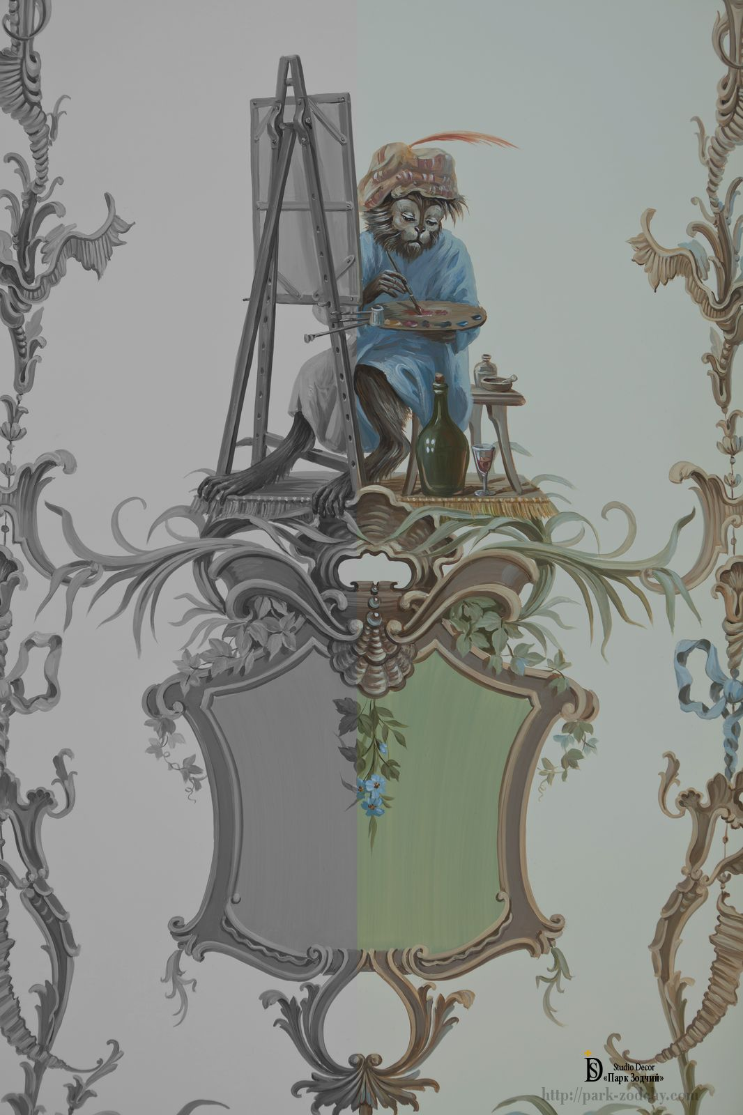 Классическая роспись в интерьере
