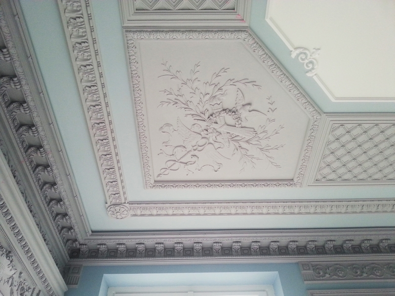 Stucco walls and ceiling