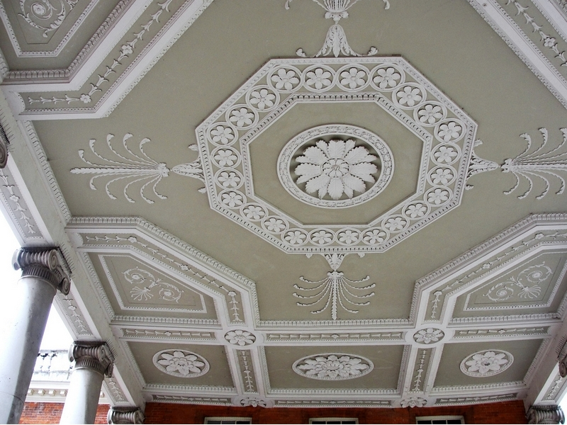 Classical stucco molding is appropriate everywhere
