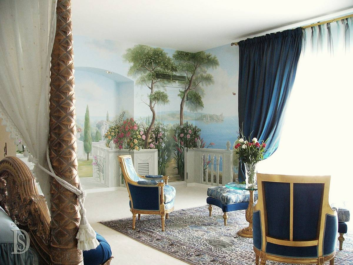Bedroom with interior painting