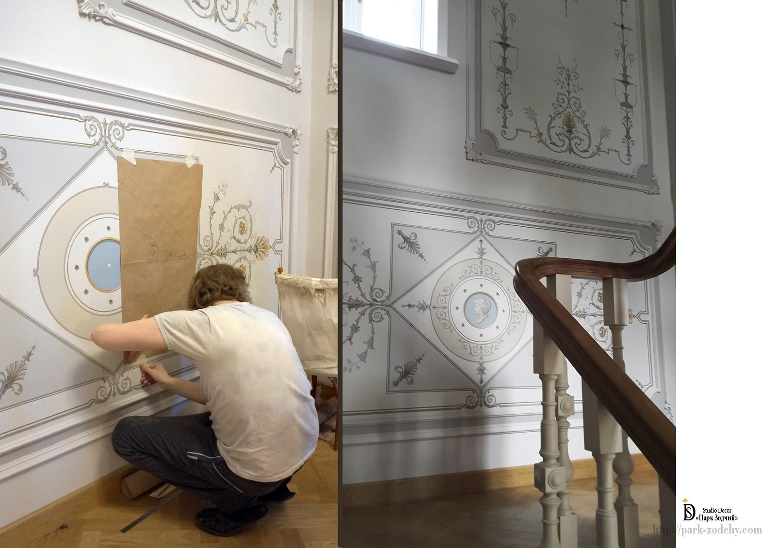 Крепление лекал для производства росписи