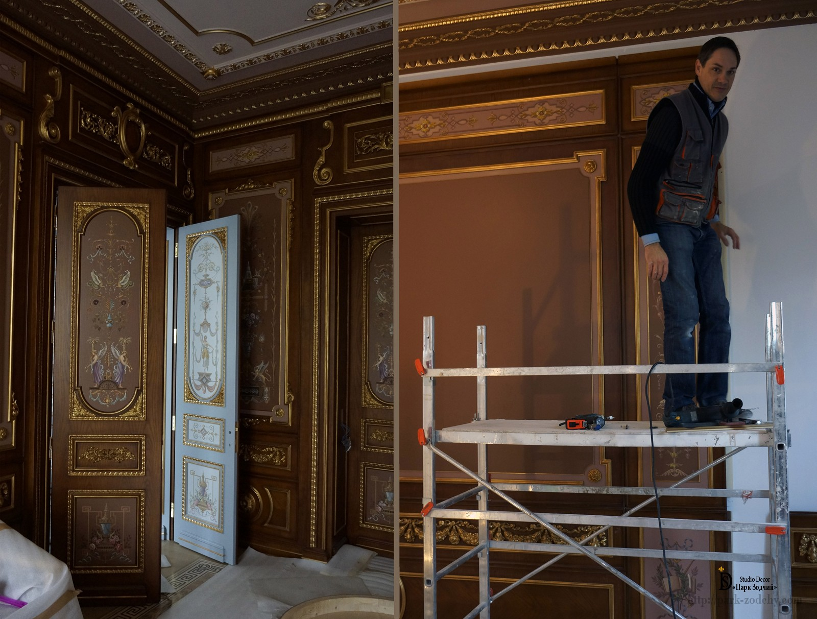 Installation of decorative panels in the interior