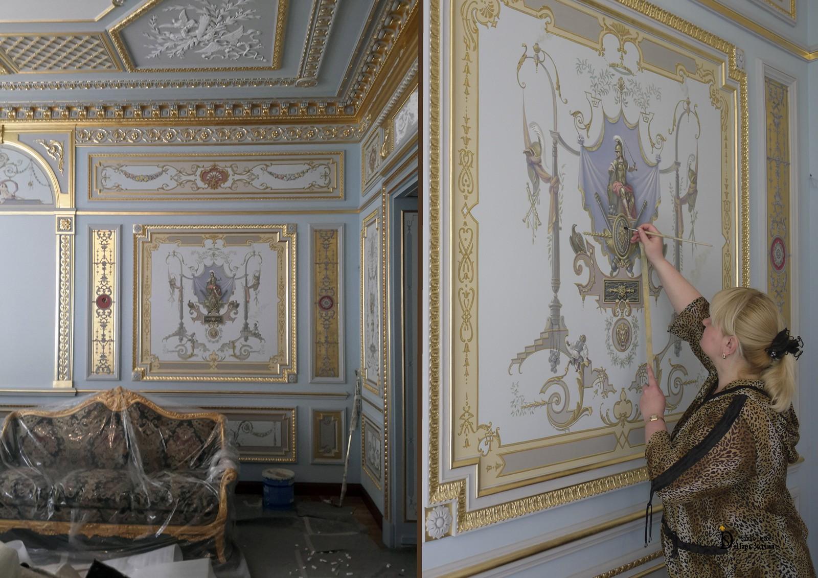 Роспись стен в стиле ампир