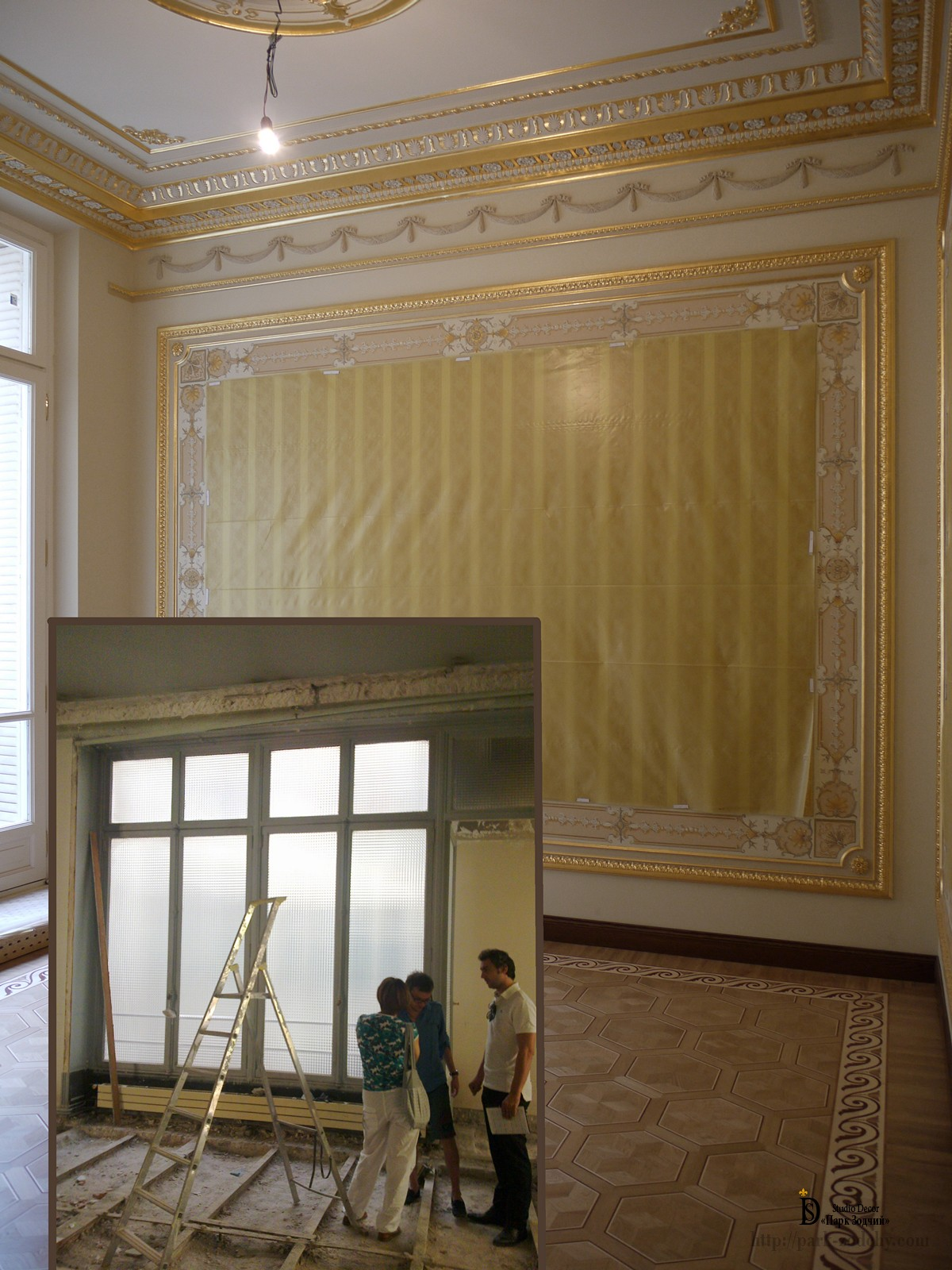 Planning for installation of stucco decoration