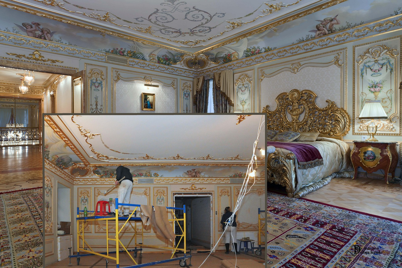 Creating bedroom in Baroque style