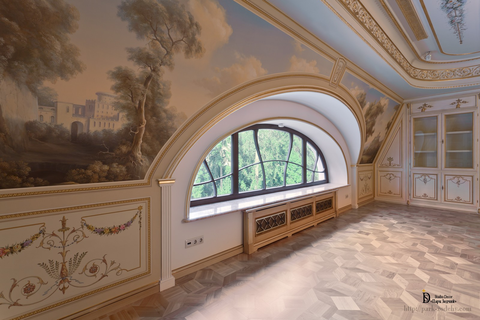 Illusionary ceiling painting in the hall