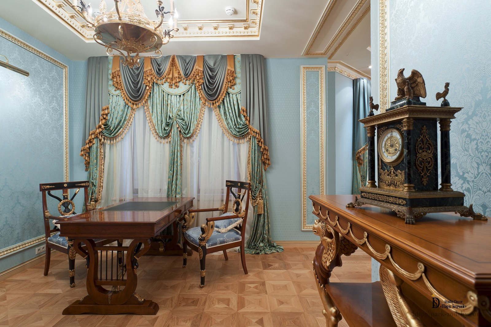The Cabinet in the Empire style with distinctive furnishings