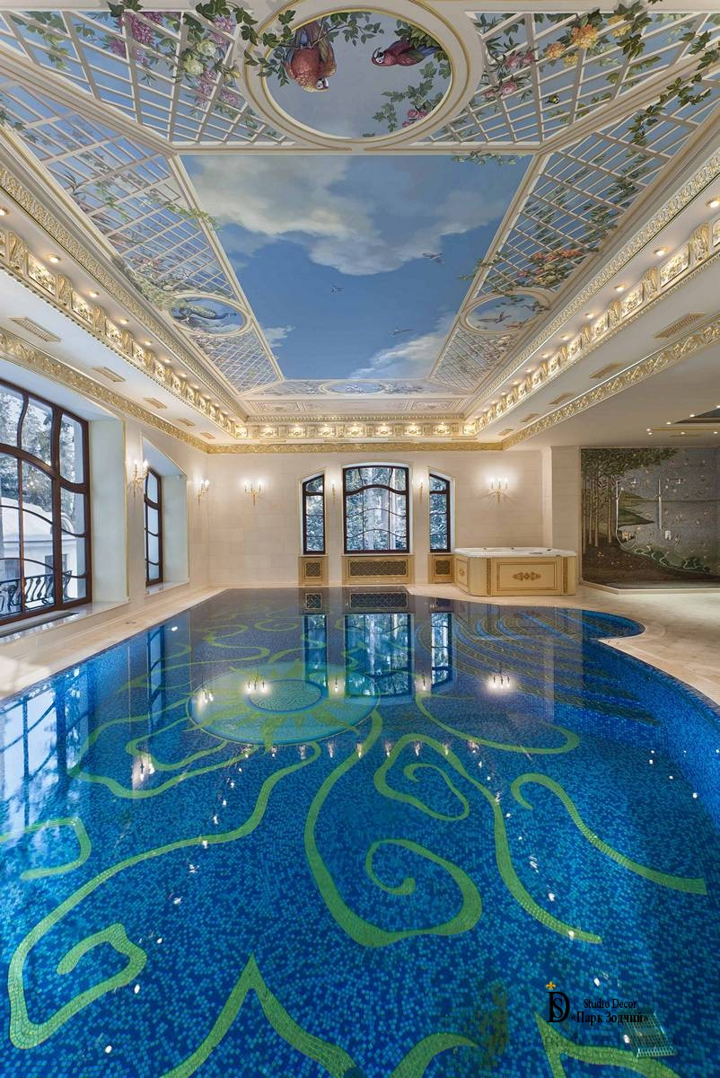 The pool in the Baroque style