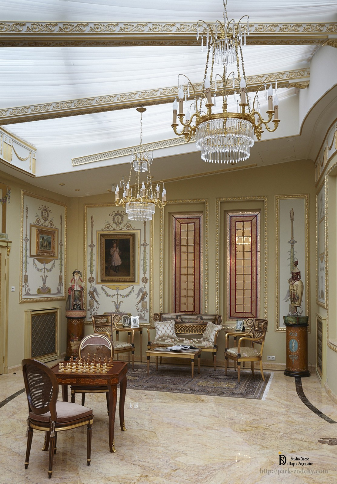 Lounge in classic interior