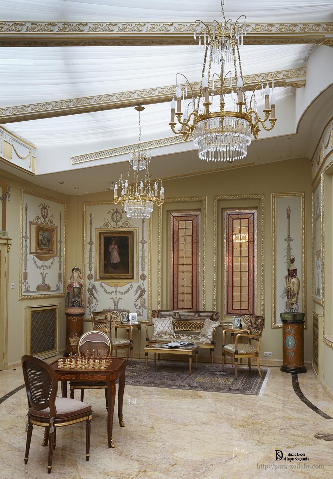 Комната для отдыха в классическом интерьере