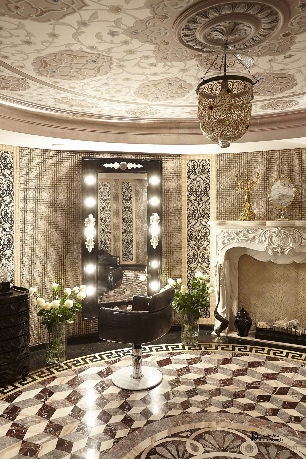 Eclecticism in the design of the dressing room