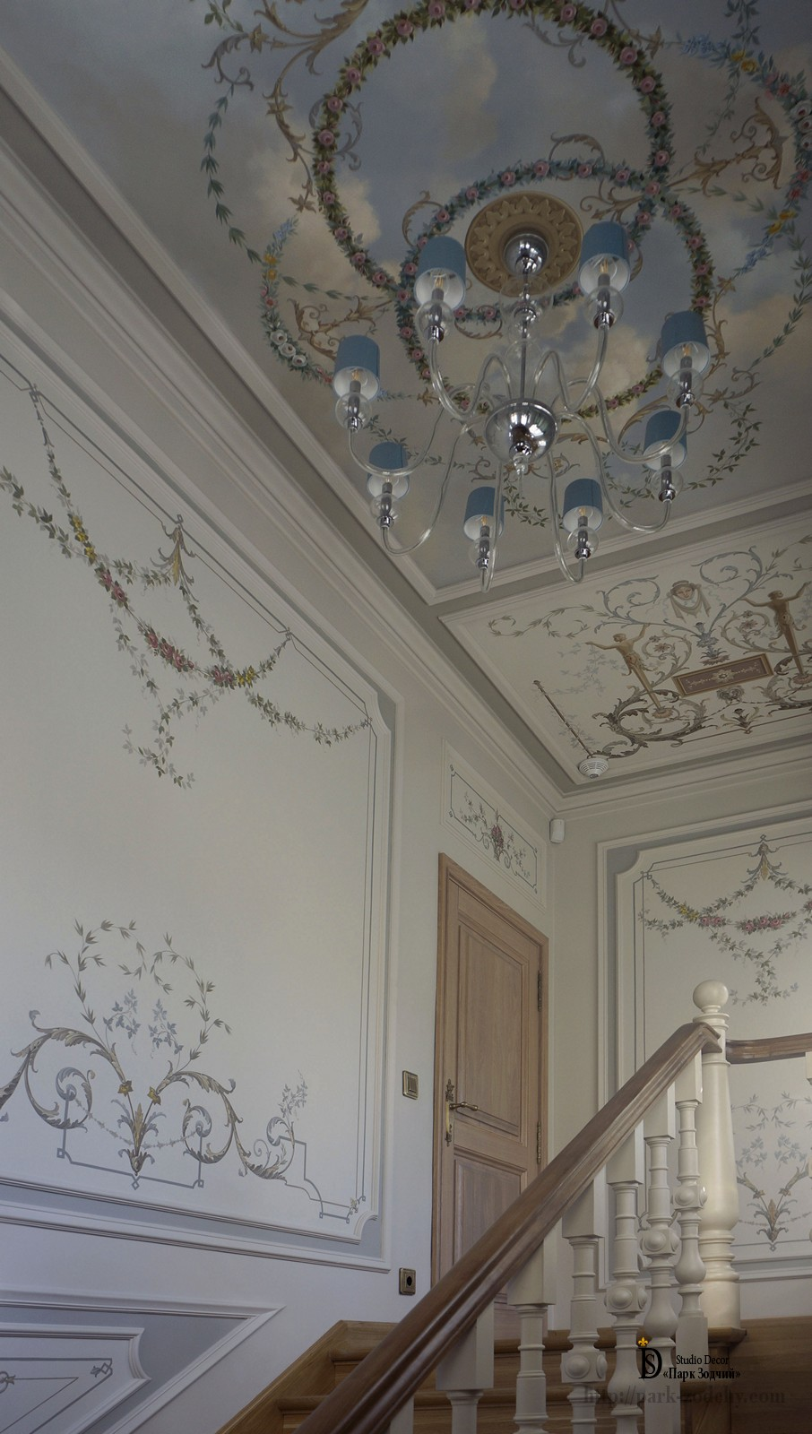 Alfrey painting in staircase decoration