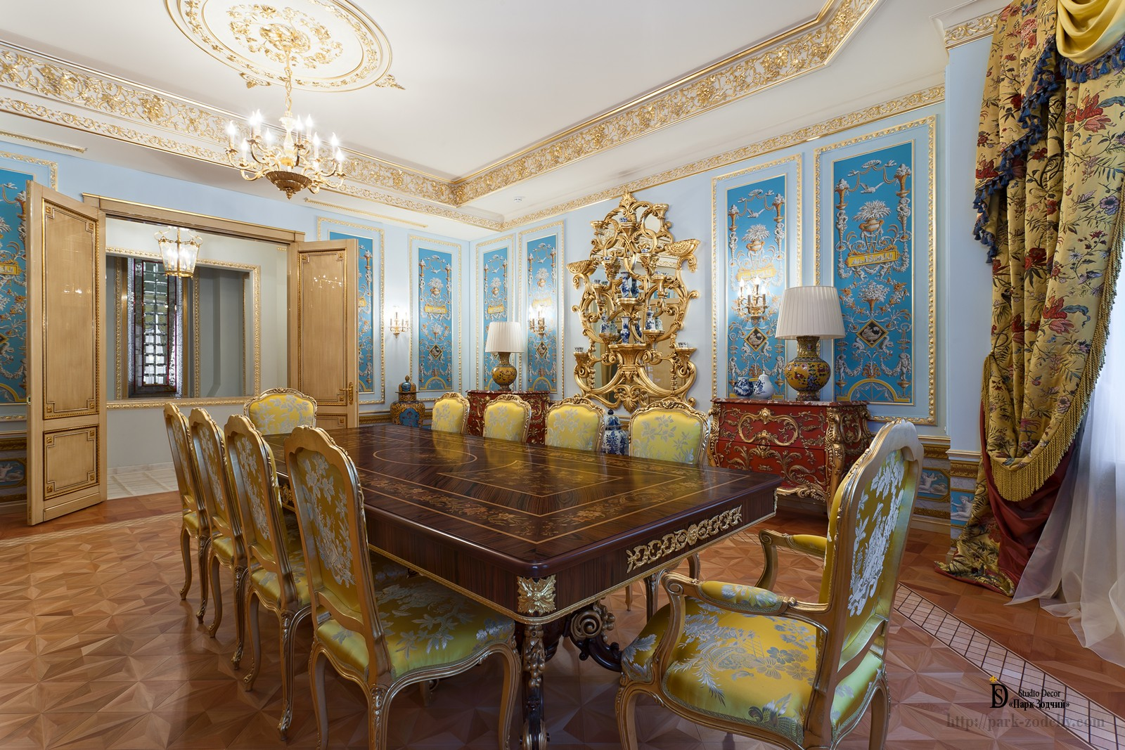 Chic dining room in baroque style