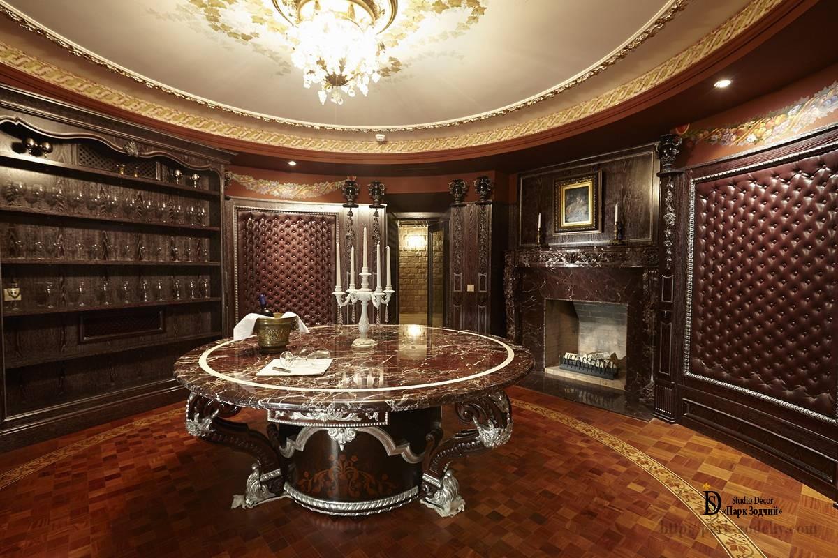 Дегустационная комната с мраморным столом