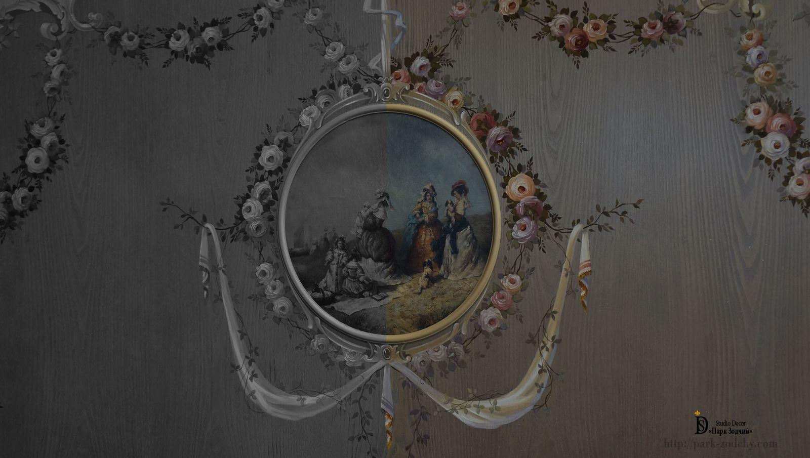 Роспись стен из дерева