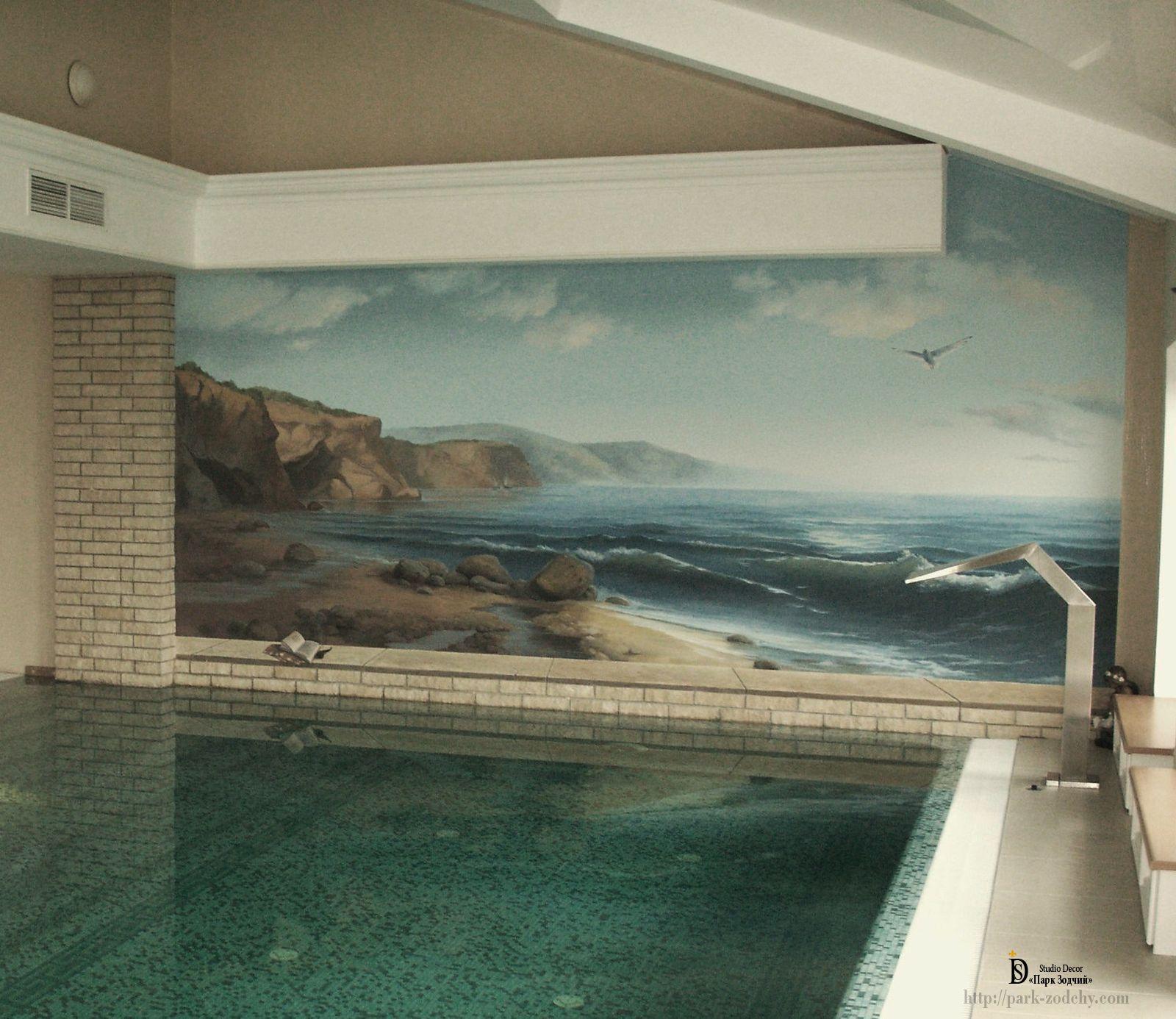 Роспись стен, морская тематика