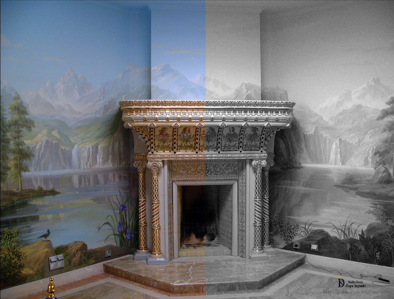 Роспись стен — изысканный пейзаж
