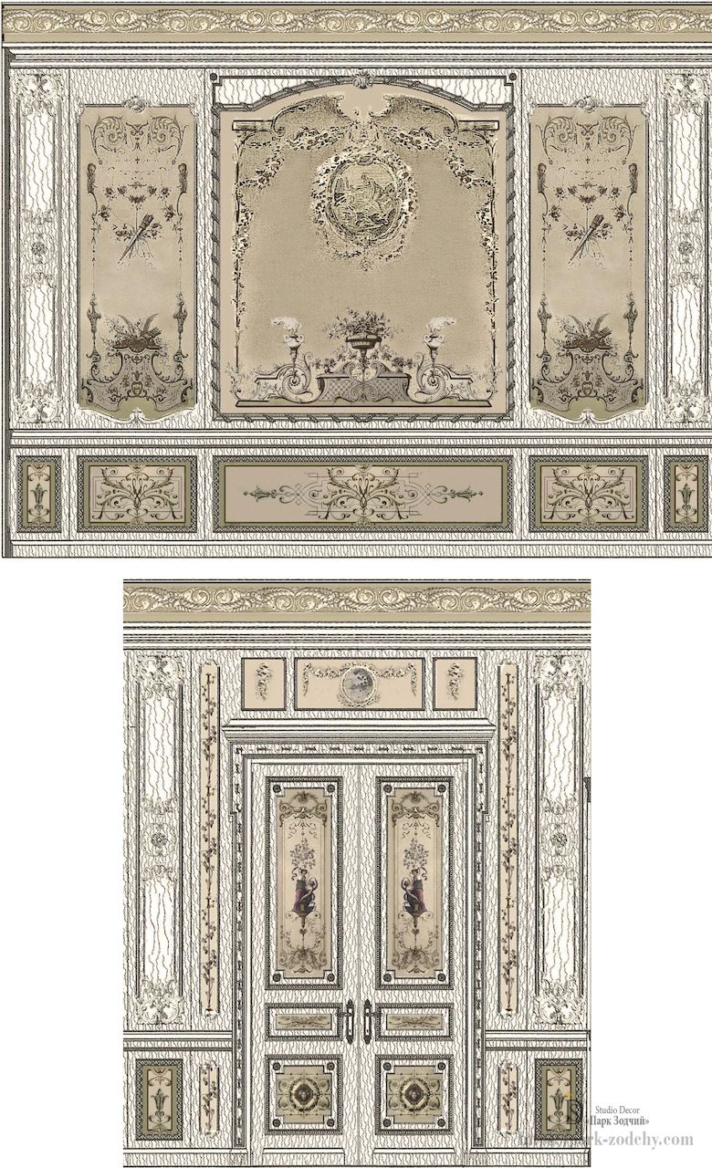 Part of the project: scan the walls for the interior in the Baroque style