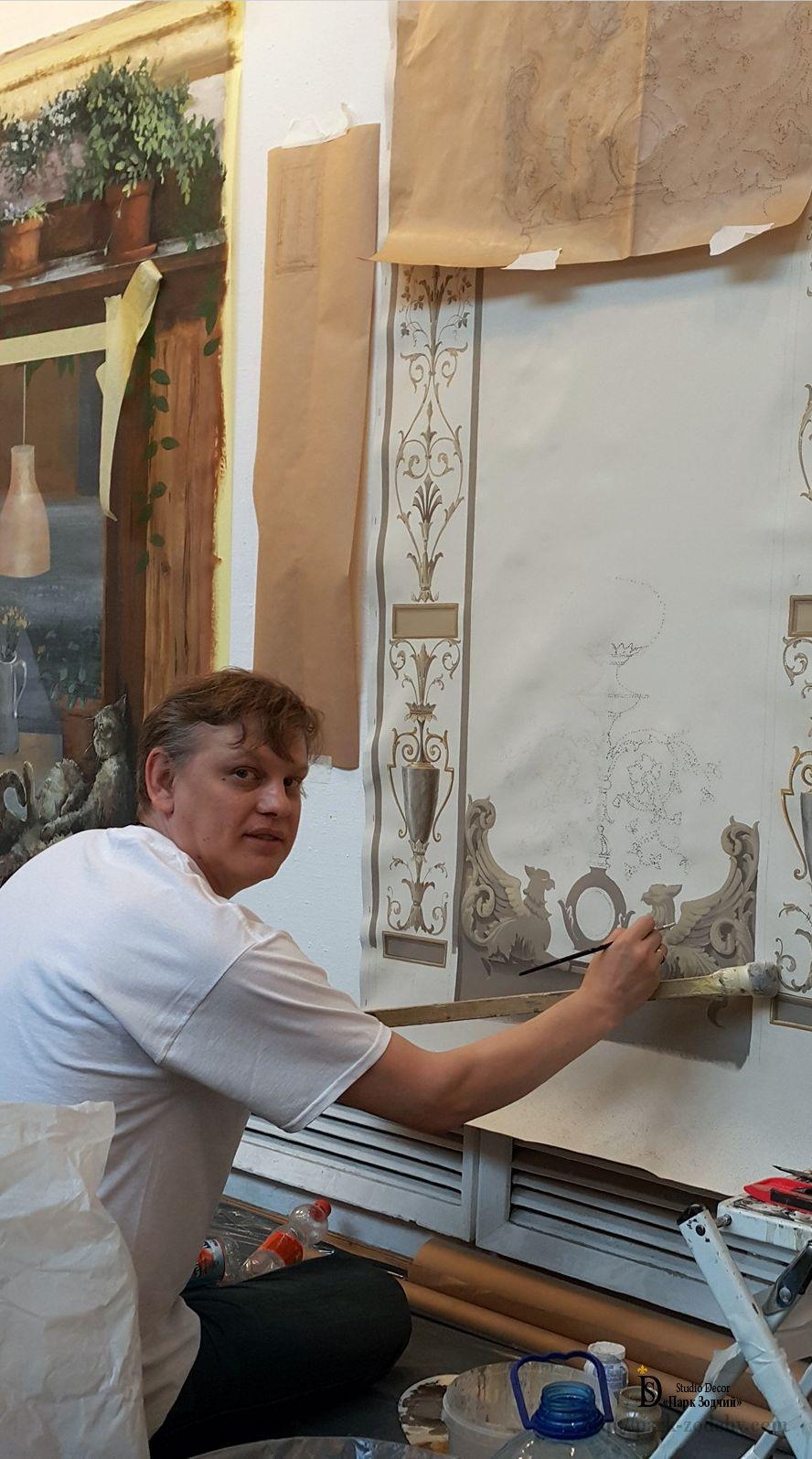 Роспись интерьеров художником Петром Дащенко