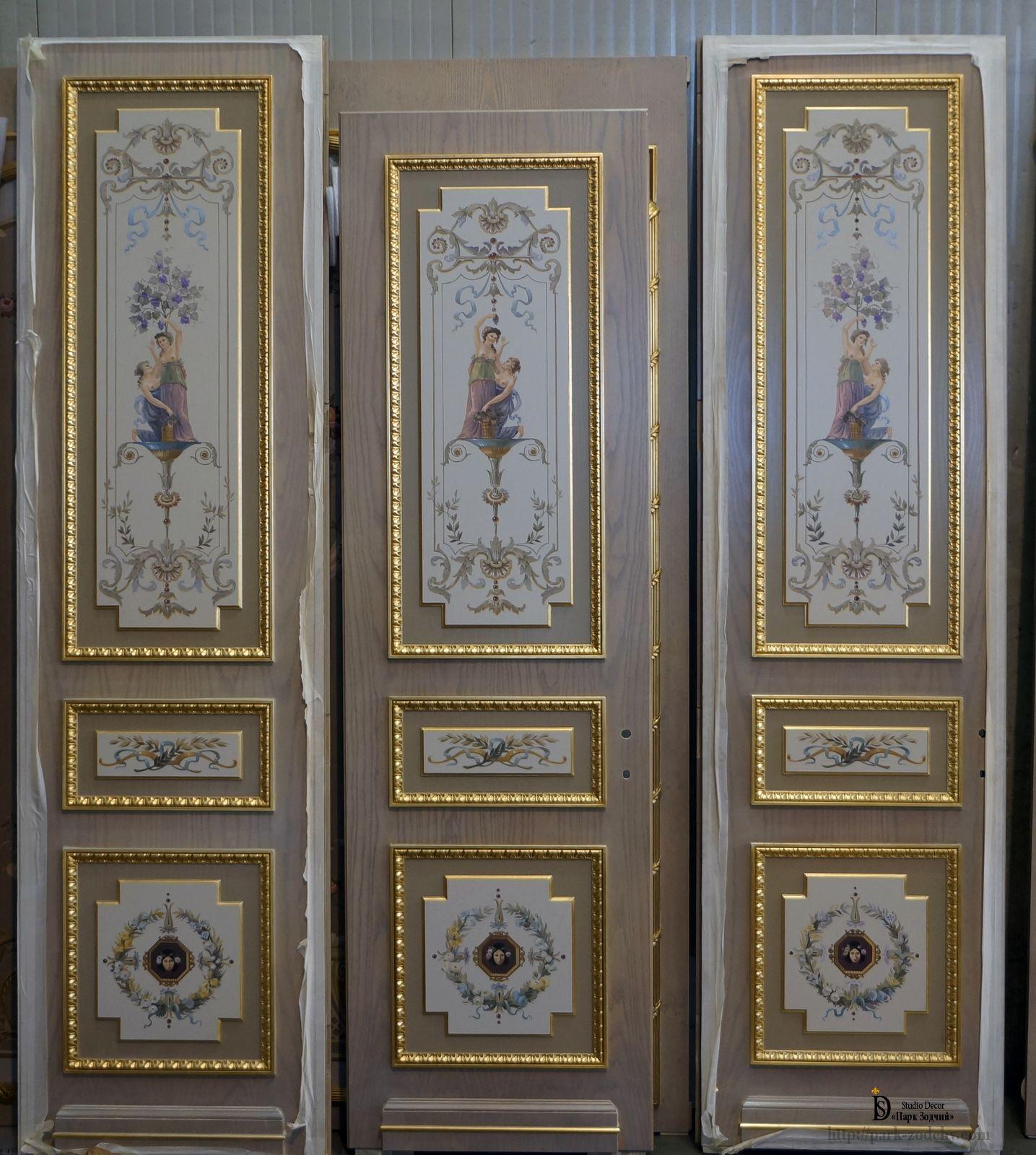 Художественная роспись дверей