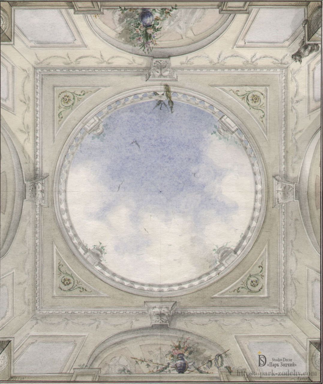 The project of painting the ceiling