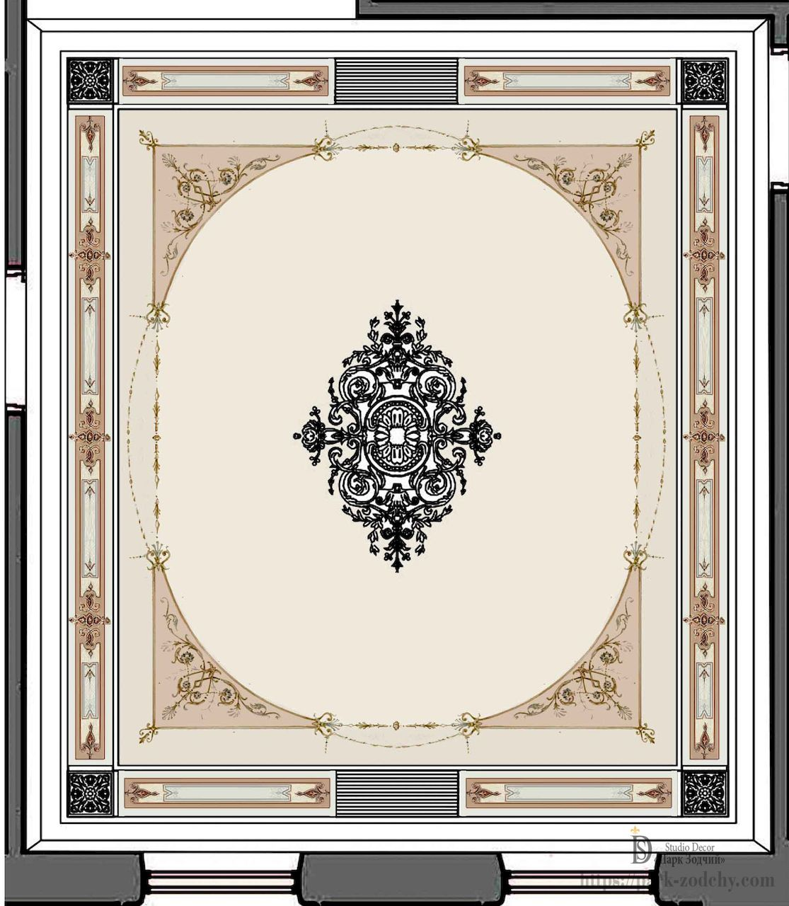 Decoration classical ceiling