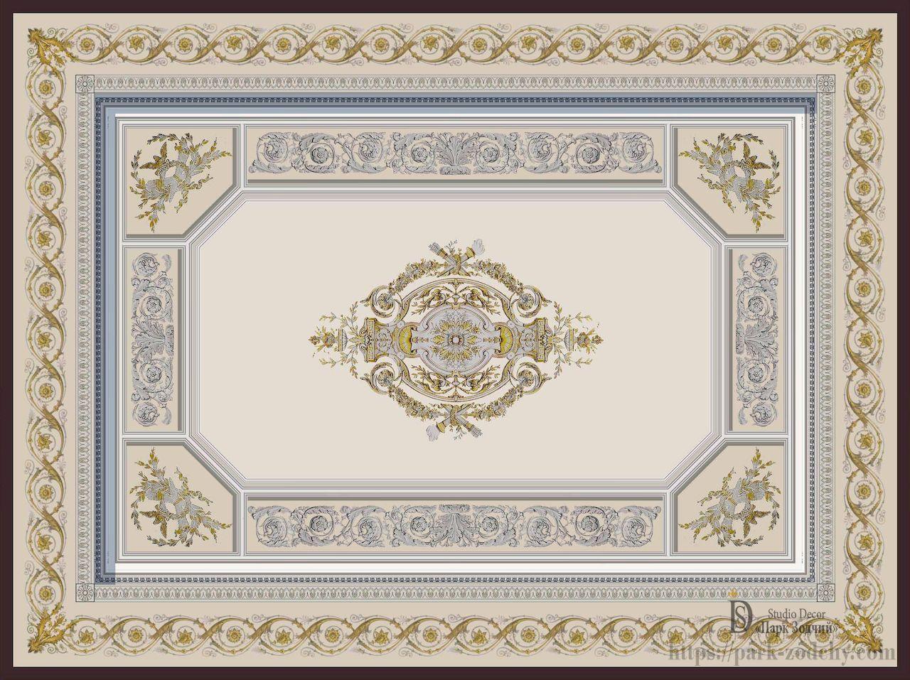 Exquisite painted ceiling