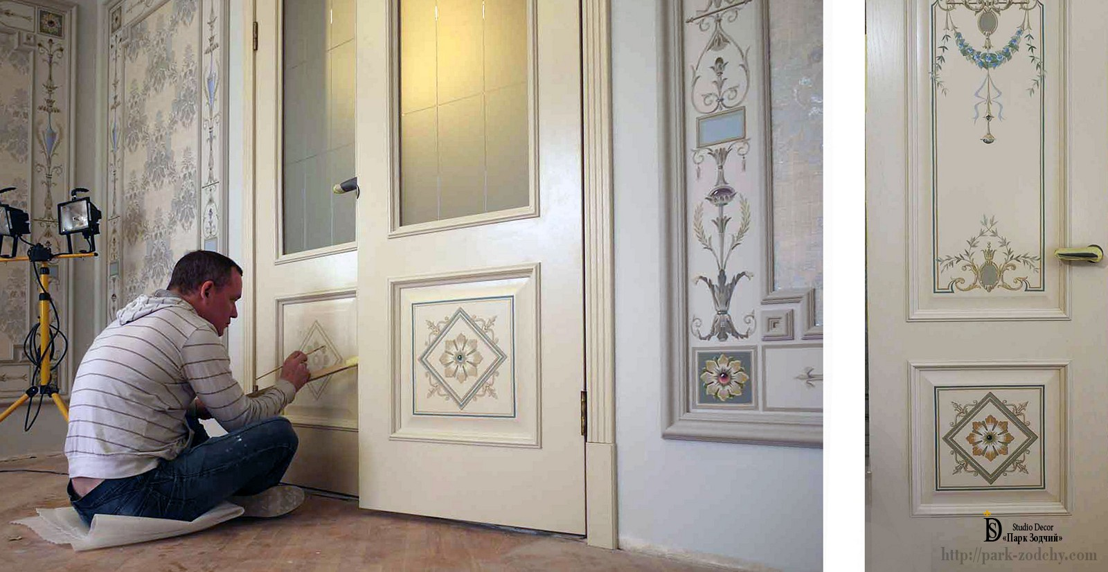 Painting doors in the interior