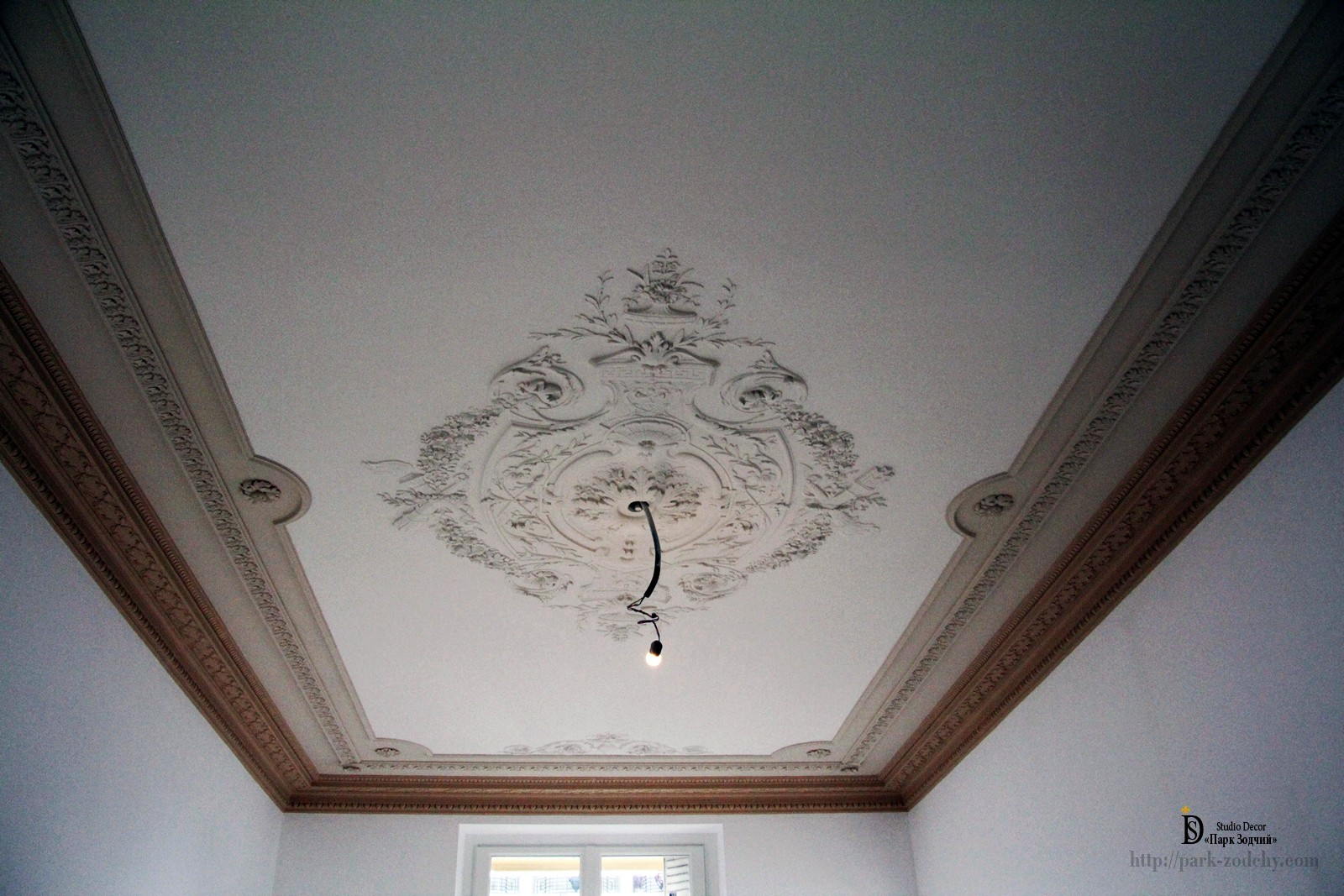 ceiling with plaster moldings