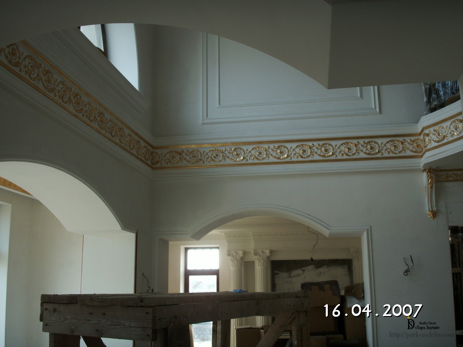 stucco plaster moldings in the house