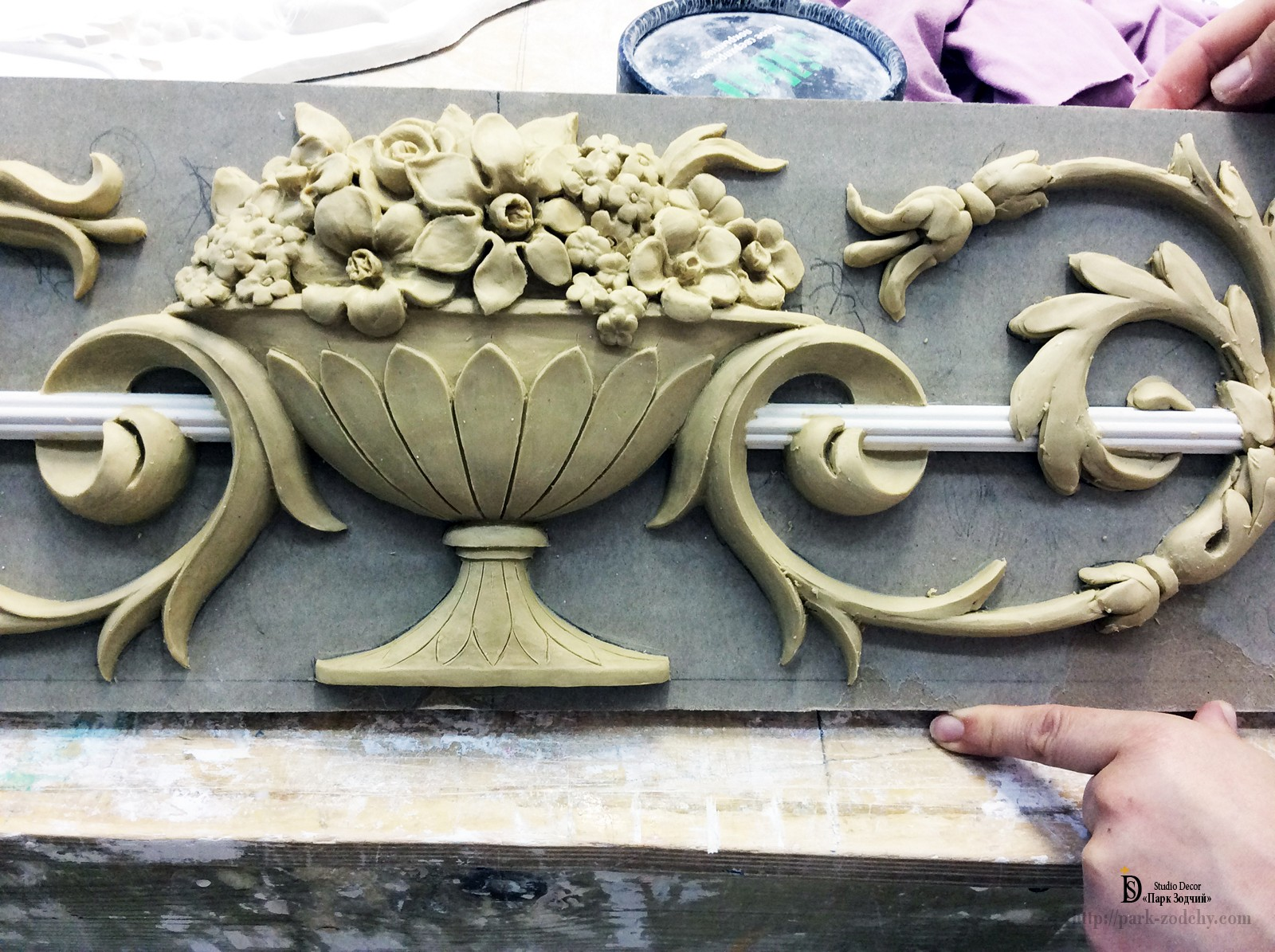 production of plaster rosettes