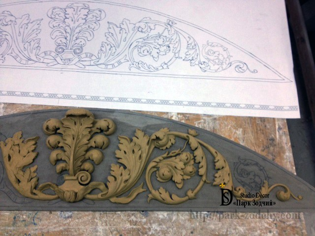 the pattern and the model of the portal door moldings