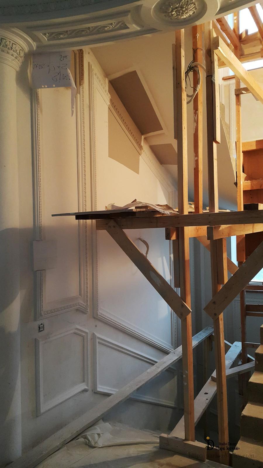 installation of a plaster socket