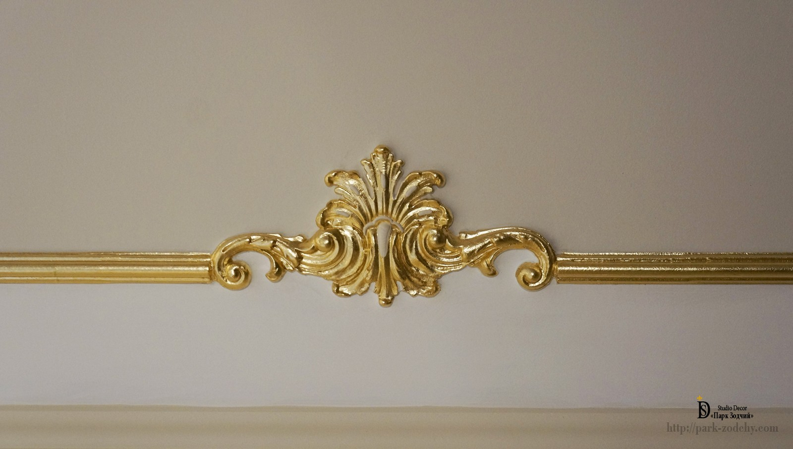 Gypsum decor gilt gold leaf