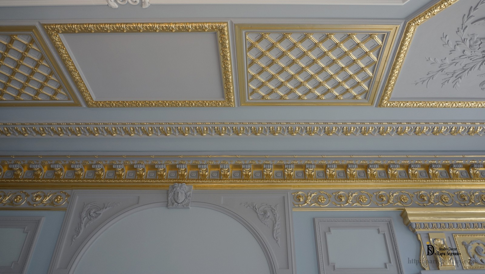 Gilding and ceiling stucco work