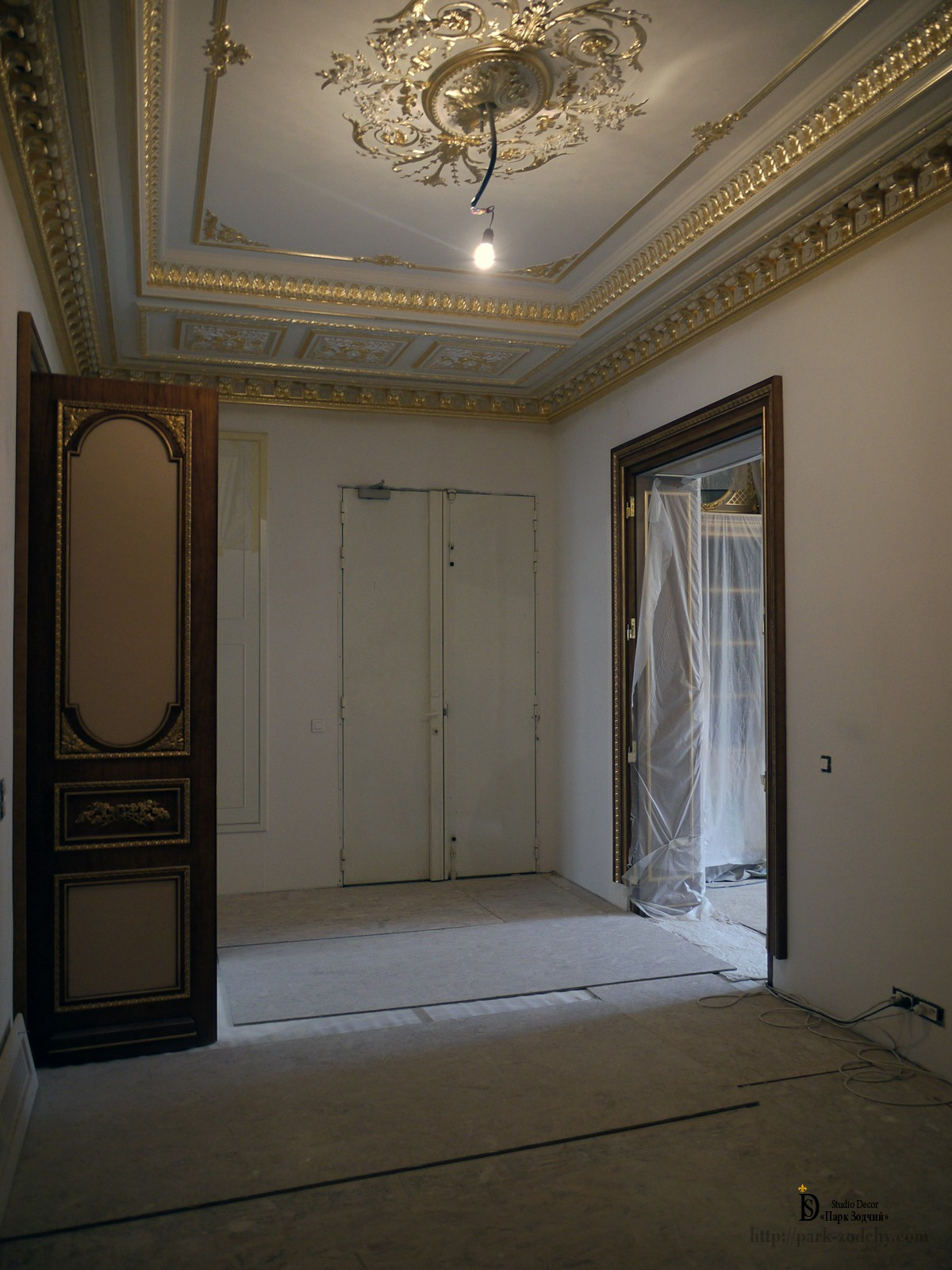 Gilding in the classical apartment interior