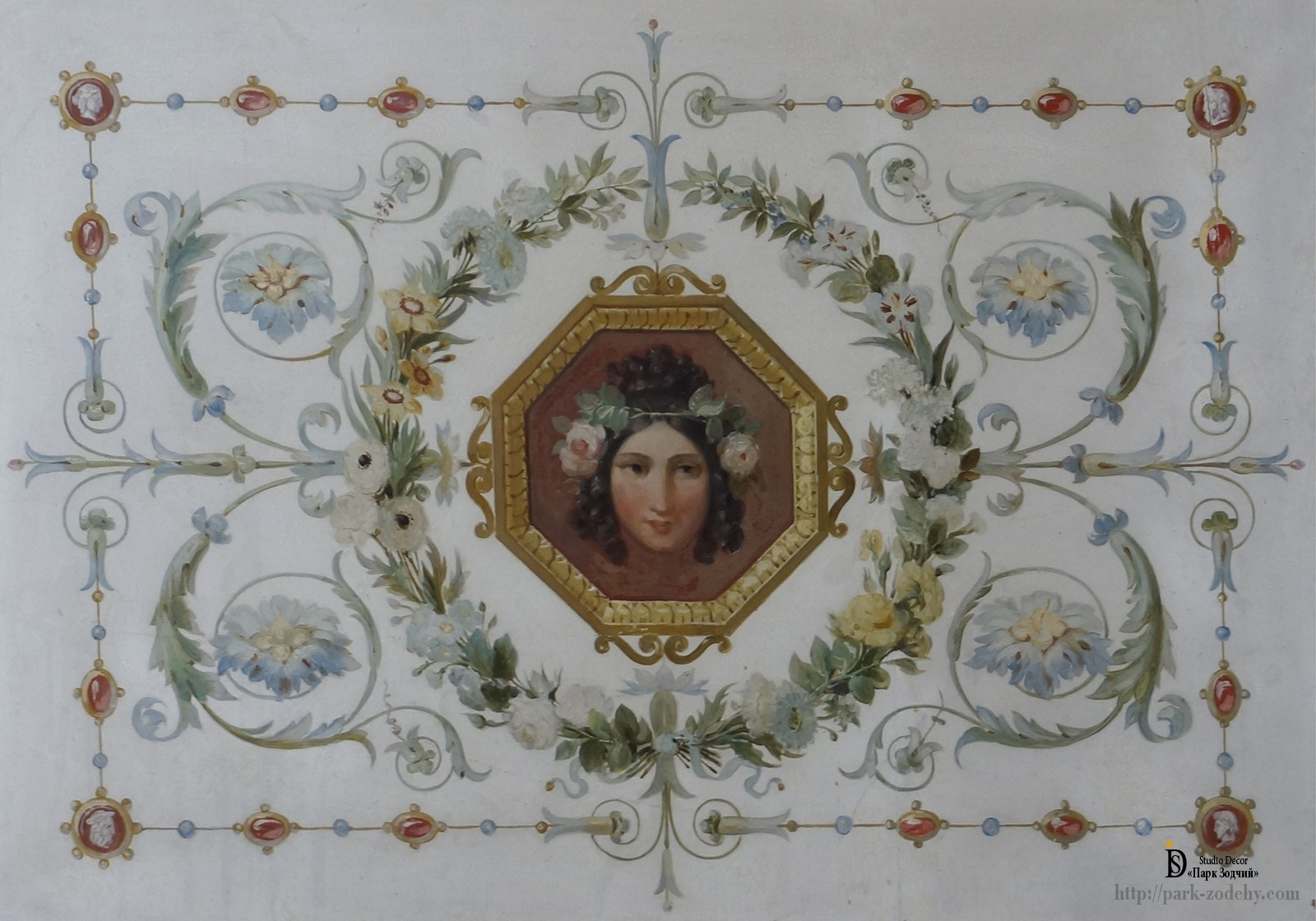 Ceiling painting in a country house