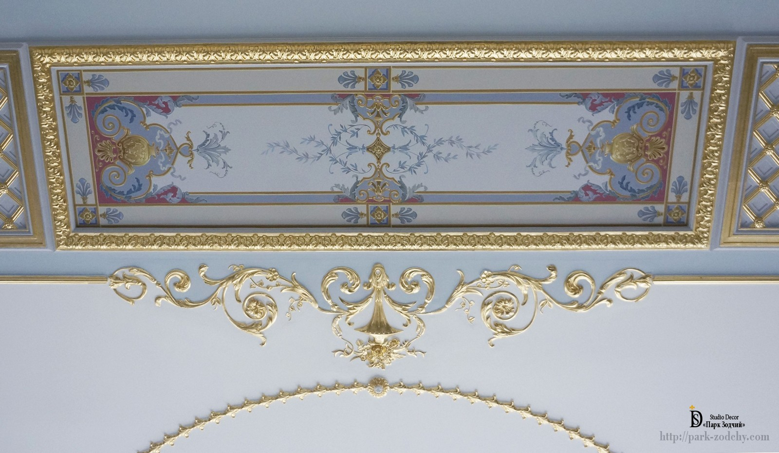Art painting of walls and ceiling