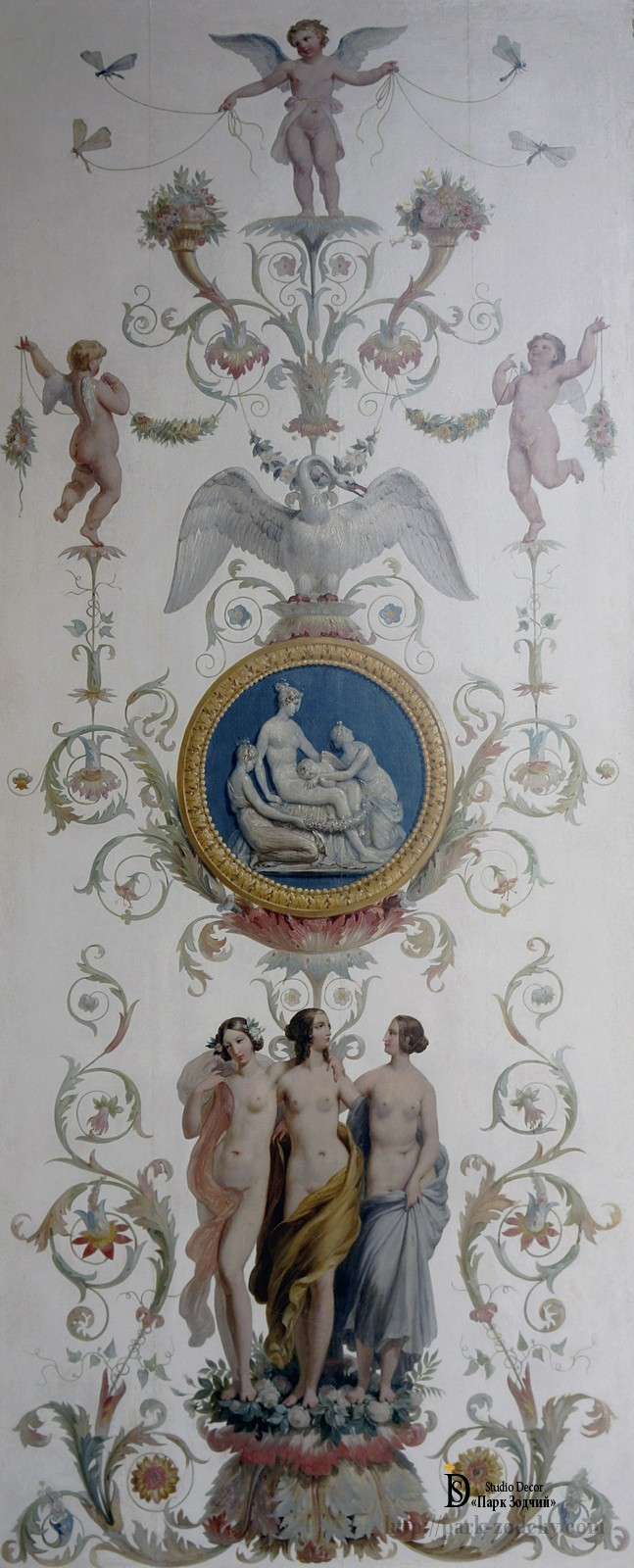 Ceiling painting in the style of the late Renaissance