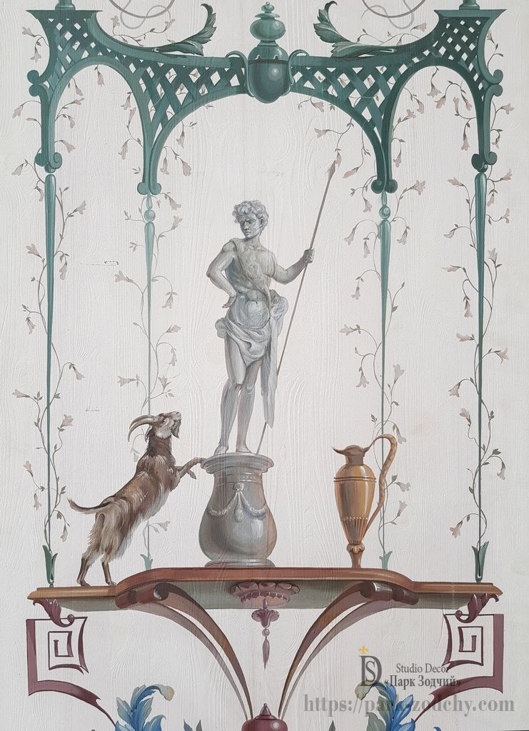 Polychrome painting of the era of Louis XVI