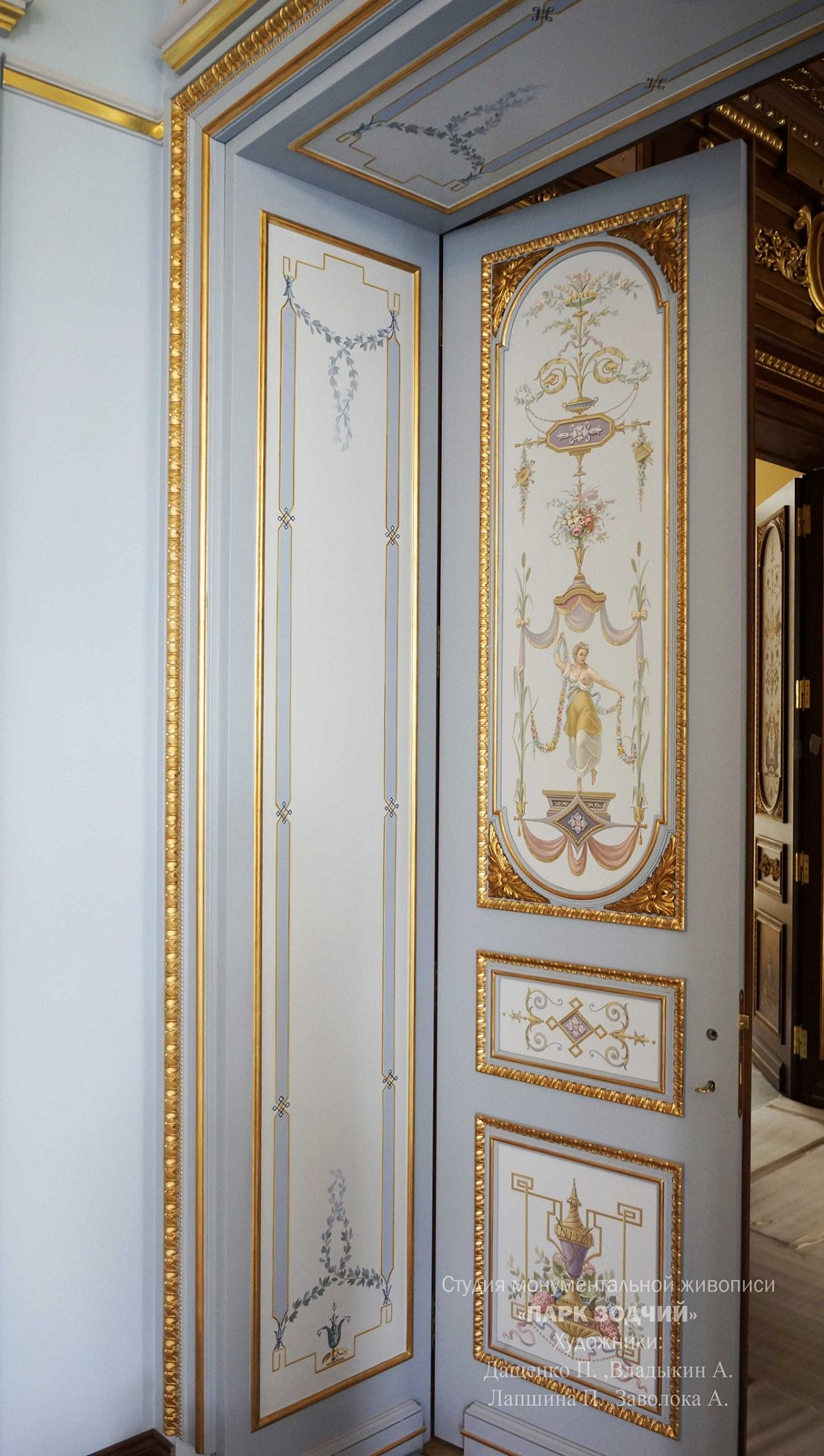Painted doorway with polychrome
