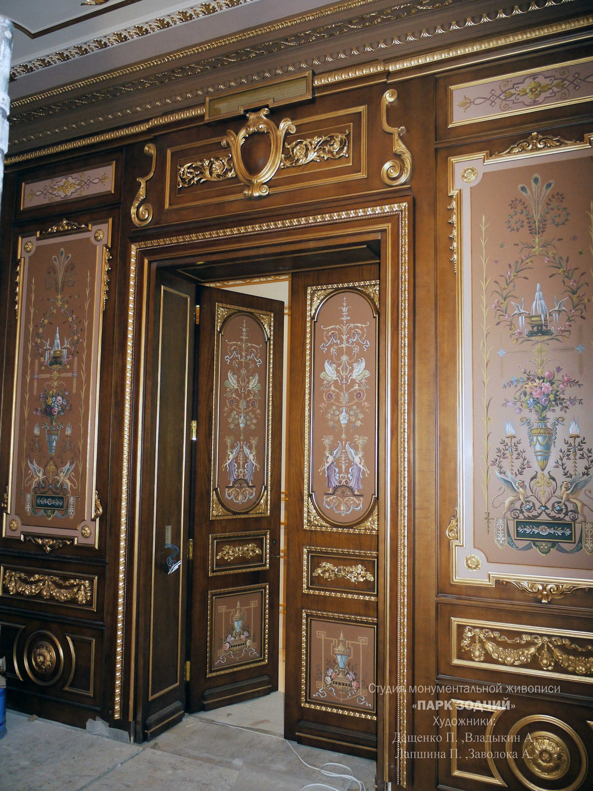 Painting over stained wood panels boiserie