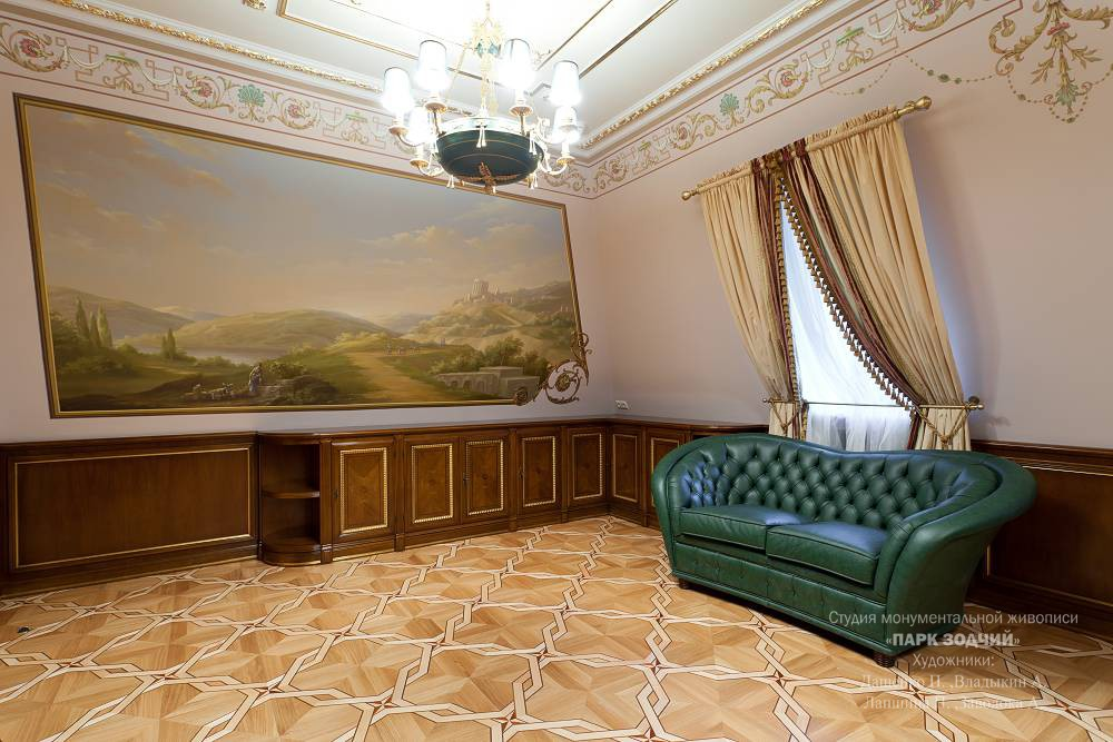 Illusory wall painting of the Cabinet in a private house