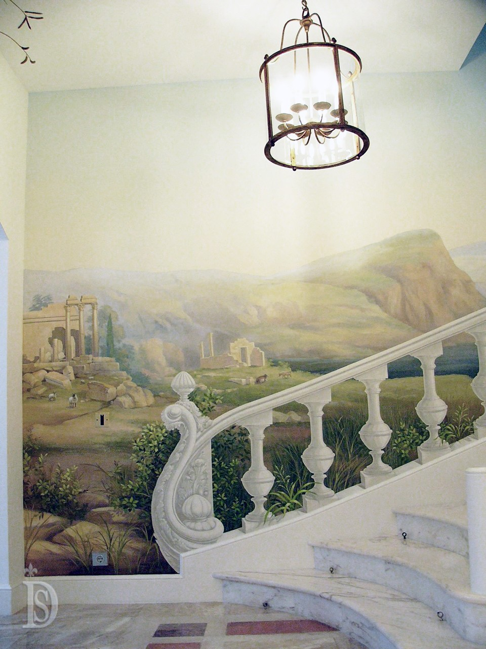 Painted staircase in private house