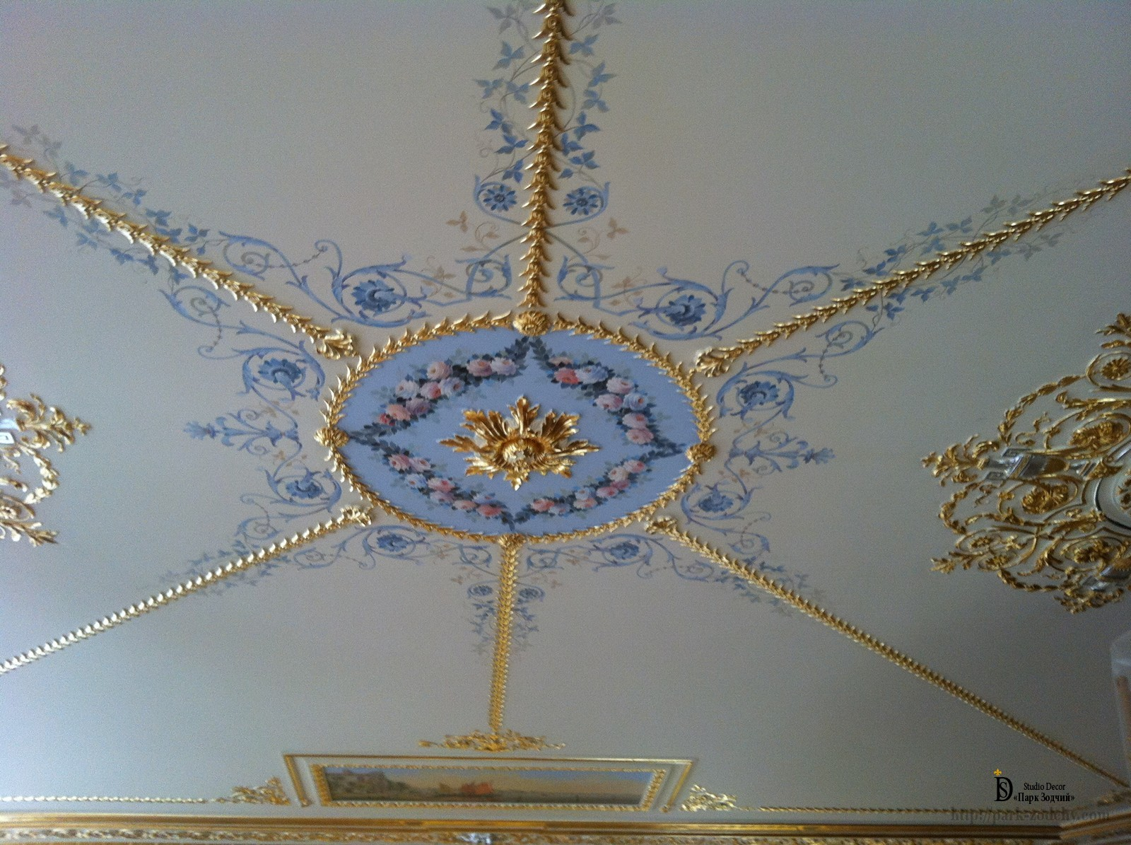 Alfray ceiling painting in classic interior