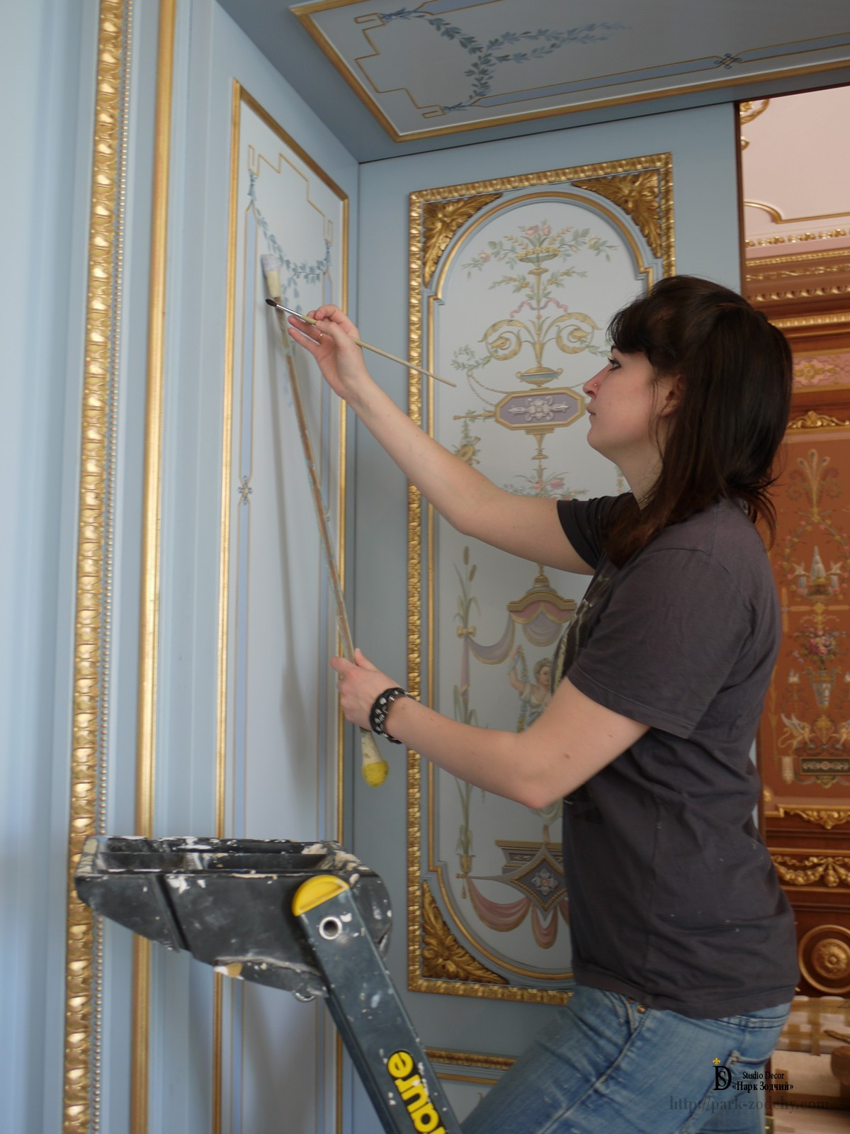 Alfray painted classical interior